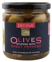 Divina - Olives Stuffed Red Pepper 13.4 Oz. 178179