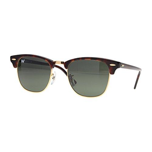 Preisvergleich Produktbild Wsunglass W955 W0366 Tortoise Gestell Kristallglas Grün Gläser Damen Herren Sonnenbrille 51mm RB3016