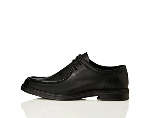 FIND Schuhe Herren Aus Leder, mit Dekorativen Nähten, Schwarz (Black), 42 EU