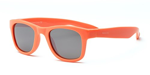 Real Kids 2SURNOR Surf Wayfarer Kindersonnenbrille, Flexible Passform, Größe 2+, neonorange
