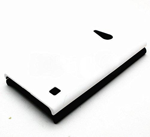 WOW Imagine Matte Rubberised Matte Hard Case Back Cover For Nokia Lumia 730 (White)