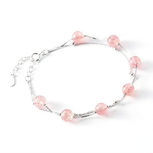 Double Strawberry Crystal Armband 925 Sterling Silber Kristall (Double Date Kostüm)