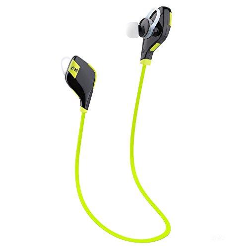 Meilun MG-5 Sport Bluetooth Ohrhörer Kopfhörer Headphone Headset apt-X CSR v 4.1 In Ear mit Mikrofon für iPhone 6 6S 6 Plus 6S Plus 5S 5 5C 4S 4, Samsung Galaxy S6 S6 Edge S5 S4 Mini (Schwarz + Grün)