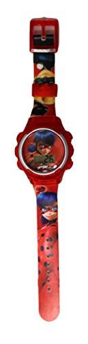 Digitale Quarz-Armbanduhr für Kinder, Miraculous, Geschichten von Ladybug und Cat Noir