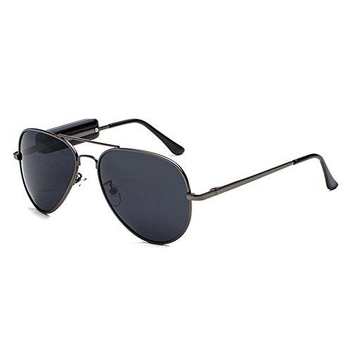 juqilu Polarisierte Sonnenbrille Bluetooth Headset Outdoor Brille Ohrhörer Musik mit Mikrofon Stereo Wireless Kopfhörer für Handy C2