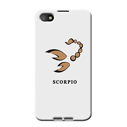 Garmor Plastic Backcover Star Sign Scorpio For BlackBerry Z30 White