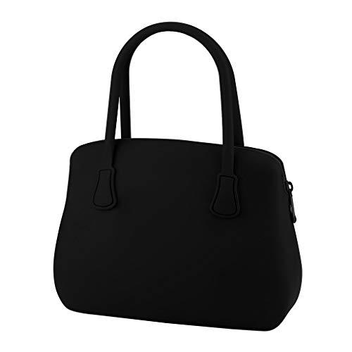 JenK Cing Lunch Taschen, Wasserdicht Isolierte Picknicktasche Kühltasche Lunchtasche Mittagessen Tasche für Silikon Bag kosmetische Aufbewahrungstasche wasserdicht und Anti-Penetration(Schwarz) -