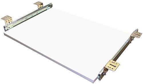 EisenRon Tastaturauszug Weiss 60x30 cm Nutzhöhe XL 77mm Schublade Auszug für Tastatur -