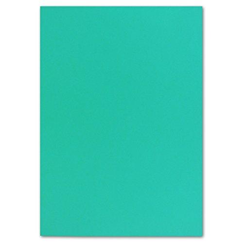 50x DIN A4 Papier Planobogen -Pazifikblau - 240 g/m² - 21 x 29,7 cm - Bastelbogen Ton-Papier Fotokarton Bastel-Papier Ton-Karton - FarbenFroh®