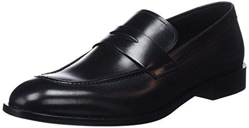 Geox Herren U SAYMORE D Slipper, Schwarz (Black C9999), 44 EU Schwarz-penny Loafer
