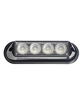Maypole Mp4113 LED encastré Strobe lampe Ambre, 4 x 3 W, 12/24 V