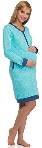 Cornette camicie da notte premaman 606 (turchese/blu scuro, xxl)