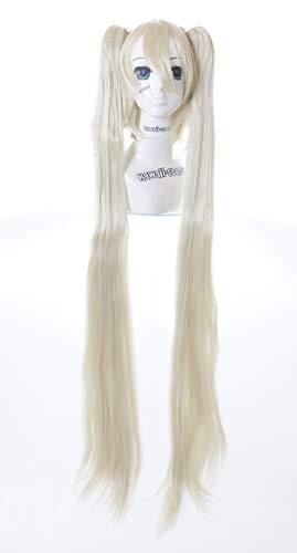 Kawaii-Story CY-120-4 Miku Platin Blond Beige 120cm Clips Gothic Lolita Cosplay Perücke Wig Anime Manga (Blonde Lolita Perücke Für Erwachsene)