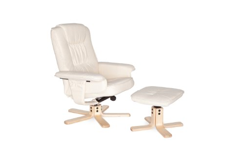 Amstyle Comfort Relaxsessel mit Hocker - 24