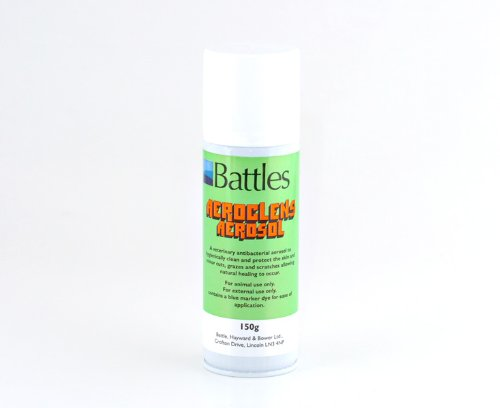 battles-aeroclens-aerosol-150g-veterinary-antibacterial-aerosol-for-the-treatment-of-superficial-wou