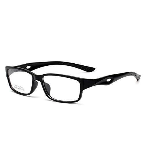 Fusanadarn Sport Brillengestell Rutschfeste Silikon Brillengestell Brillen für Frauen Männer (Color : Black)