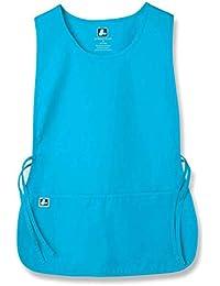 Adar Uniformi Unisex Grembiule da Lavoro Con Tasche per Lavori in settori Bellezza & Medicina - 702 Colore: TRQ | Dimensione: Regular