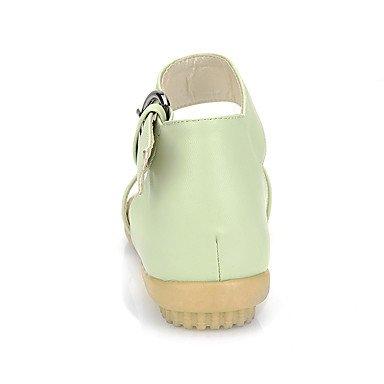 LvYuan Da donna-Sandali-Ufficio e lavoro Formale Casual-Altro-Piatto-Finta pelle-Rosso Beige Verde chiaro light green