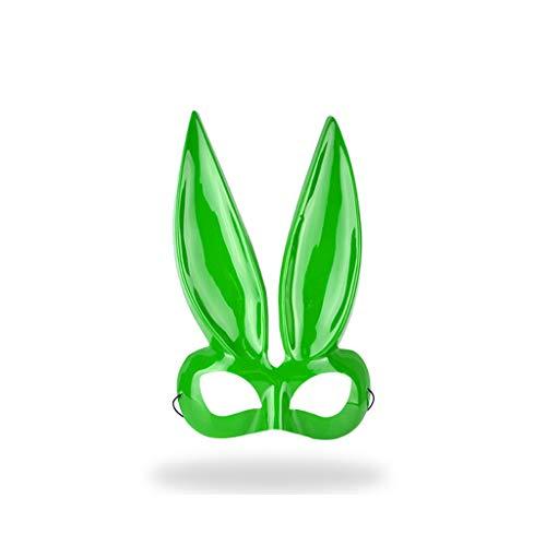 Lisanl Maske mit langen Ohren, Kaninchenmaske, süße Hasenmasken, Cosplay, Kostüm, Requisiten für Party, Ostern, Halloween grün