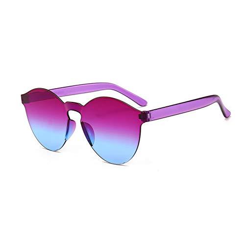 ZRTYJ Neue Sonnenbrille-Frauen-Transparente Plastikglas-Mann-Art-Sonnenbrille-Freier Süßigkeit-Farben