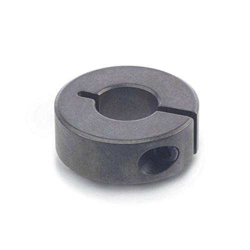 Ganter Normelemente GN 706.2-22-B8-ST Geschlitzte Stellringe, Schwarz Dampfoxidiert, Durchmesser d1: 22mm, Bohrung d2: B8, 4 Stück