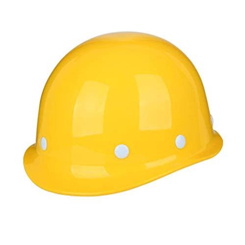 Schutzhelm, Kletterhelm Hochintensive Baustelle/Bauwesen/Elektrotechnik, Arbeitsschutzhelm für Männer und Frauen (Color : Yellow)