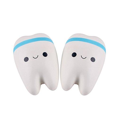 NUOLUX 2 Stück Squeeze Kawaii Zähne Stress Relief Spielzeug