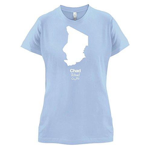 Chad / Tschad Silhouette - Damen T-Shirt - 14 Farben Himmelblau