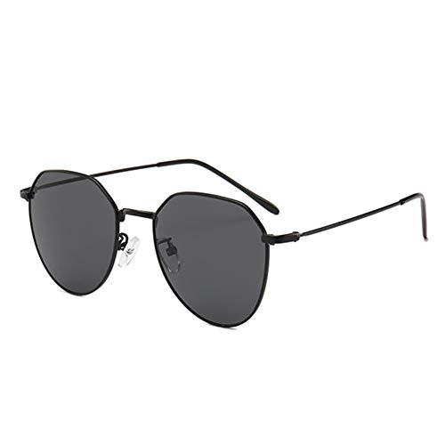 MJDABAOFA Sonnenbrillen,Neue Piloten Sonnenbrille Unisex Sonnenbrille Schwarz Gestell Schwarz Linse Brillenmode Shades Sonnenbrille Männer Frauen Brillen Uv400