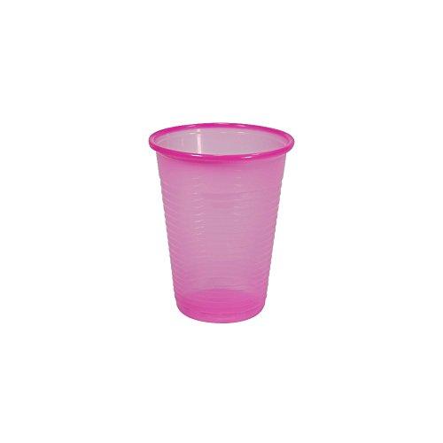 100 x Mundspülbecher 180 ml verschiedene Farben, Farben:Pink