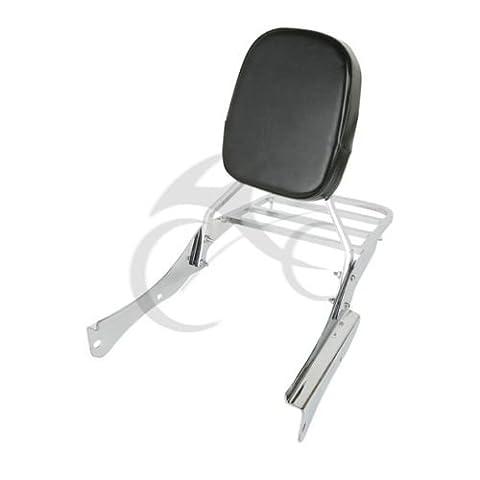 Tengchang Chrome Backrest Sissy Bar + Luggage Rack For Honda