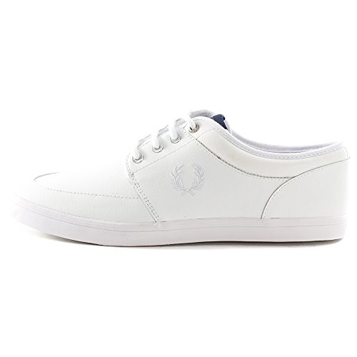 Fred Perry Stratford Leather Herren Sneaker Weiß Weiß
