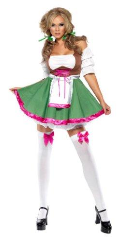 Smiffy's - Bayrisches Dirndl-Kostüm für Damen