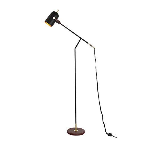 Schwarzes verstellbares Eisen Stehlampe Licht, NWLAMP Modernes einfaches hohes Downlight, dekorative Pole Hängelampe, Stehend hohe Pole Task Lampe für Wohnzimmer Schlafzimmer Studie Cafe Bar -