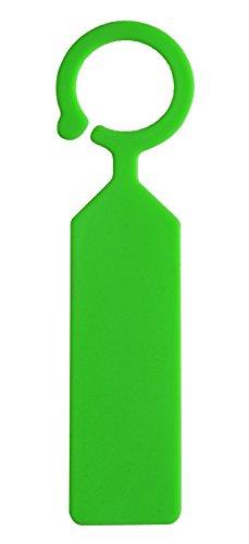 Mr-Label® Las etiquetas de las plantas de plástico de colores - Resistente a la intemperie | Duradera que cuelga del árbol de etiquetas para plantas de etiquetado - Verde - 50 etiquetas
