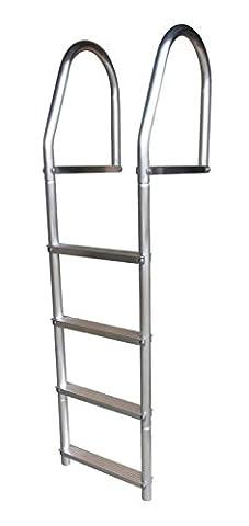 Dock Edge Fixed Eco - Weld Free Aluminum 4-Step Dock Ladder