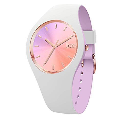 Ice-Watch - ICE duo chic White orchid - Montre blanche pour femme avec bracelet en silicone - 016978 (Small)