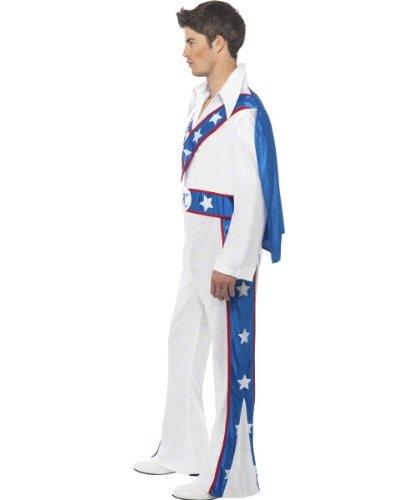 Karneval Herren Kostüm Evel Knievel Overall weiß Motorradfahrer (Kostüme Knievel Halloween Für Evel)