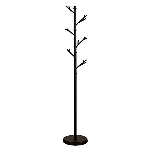 Garderobenständer Garderobenständer Kleiderständer Hutständer Baumständer Haken Schlafzimmer Büro Flur Garage Freistehend 175 × 32 cm (Color : Black)