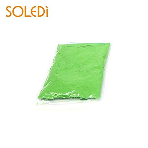 HITSAN INCORPORATION Colored Corn Flour Running Throw Powder 100g/Bag Harmless Corn Starch Color Runs Celebrate Safety 5 Color TV Commercials Color Green