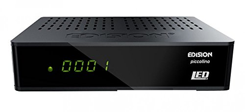 Edision Piccollino - Receptor de satélite LED Full HD (DVB-S2, HDTV, HDMI, euroconector, USB 2.0, LAN, lector de tarjetas)