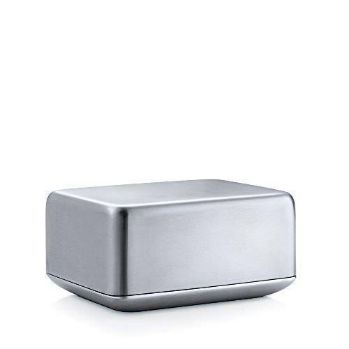 Blomus 63638 Basic Beurrier Moyen Format Acier Inoxydable Gris 12 x 9,7 x 5,8 cm