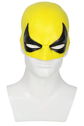 Halloween Maske Hut Cosplay Erwachsene Latex Masken Kostüm Fancy Dress Merchandise Zubehör (Iron Fist Cosplay Kostüm)