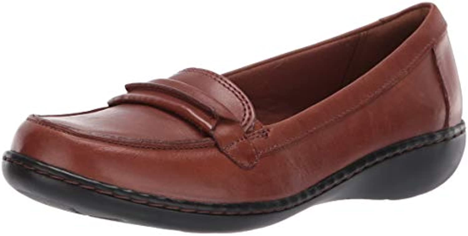 Clarks Clarks Clarks Wouomo Ashland Lily Loafer, Dark Tan Leather, 100 M US | Up-to-date Stile