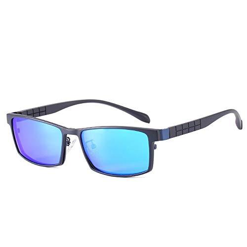 Blu-glas (JIU-GLASSES Gläser Anti-Blu-ray Neue Anti-Blu-Ultra-leichte, magnetisch polarisierte Sonnenbrillen können entladen Werden (Color : Blue))
