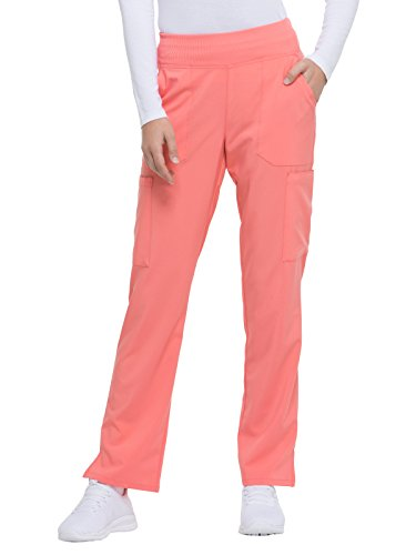 Dickies EDS Essentials by Women's Knit Waistband Scrub Pant Small Ravashing Coral