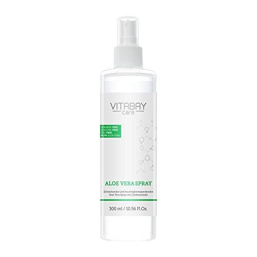 Aloe Vera Spray 300 ml für Körper & Haar - 99,9% biologisch reine Aloe Vera, mit Hyaluronsäure, Made in GERMANY - EXTRA Stark - 1200 mg/ltr Aloverose