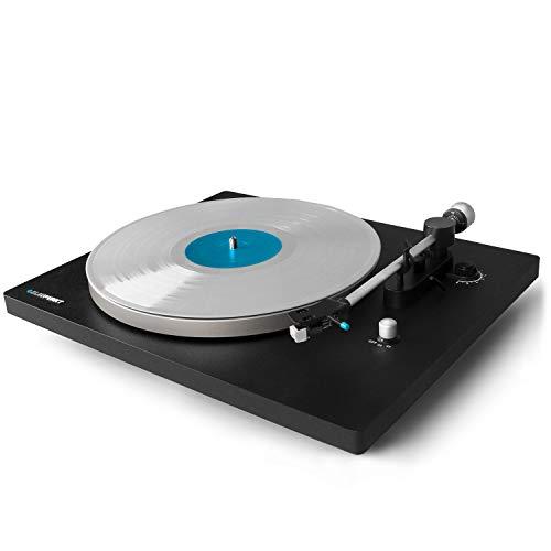 Blaupunkt TT 100 Plattenspieler mit gefederten Standfüßen   Schallplattenspieler mit Hochwertigem Audio Technika TT Tonarm   Schallplatten hören mit Einem Einzigartigen Klang