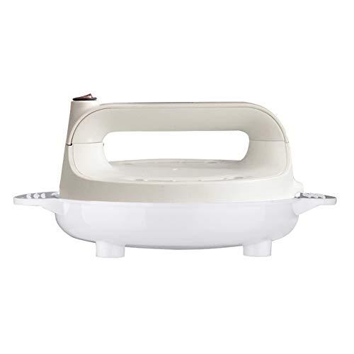 Crèpiera Elettrica Crepes Maker - Crepiera elettrica con termostato, Piastra antiaderente, Diametro 16cm, 600W, bianco