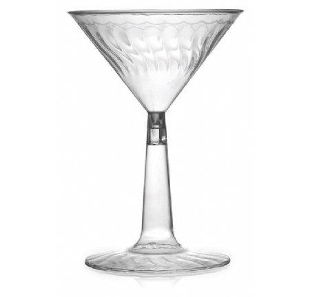 Martini-Gläser aus Kunststoff 12 Stück wiederverwendbar Elegante Cocktail-Gläser–Klar–170ml, für Hochzeiten, Events, Partys, Kneipen, Bars & Restaurants
